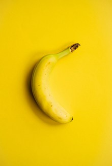 一根黄色香蕉高清图片