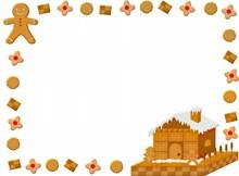 圣诞姜饼边框背景图片素材