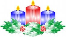 圣诞蜡烛背景高清图