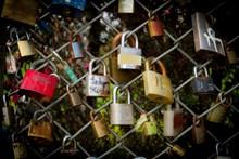 浪漫挂锁图片