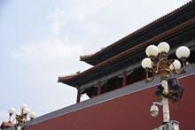 天安门屋檐建筑局部摄影图高清图