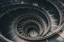 豪宅旋转楼梯高清图