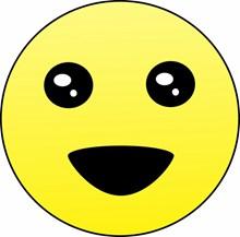 黄色卡通笑脸表情图片下载