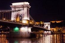 布达佩斯链子桥夜景高清图