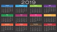2019年日历全年表图片大全