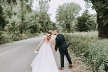 婚纱照唯美背影图片
