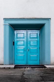 蓝色木制大门 蓝色木制大门大全精美图片