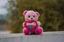 粉色泰迪熊玩具高清图