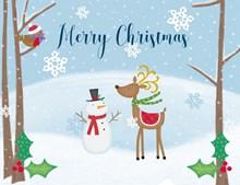 圣诞节卡通背景图片素材