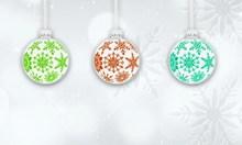 圣诞彩球装饰背景高清图