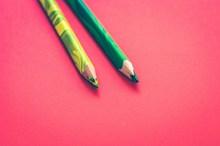 水溶彩色铅笔图片素材