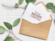 圣诞节信封高清图片