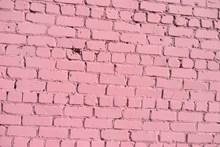 粉色砖墙背景图片素材