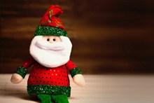 圣诞老人玩偶图片素材