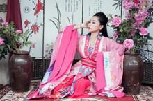 粉色汉服古装美女图片下载