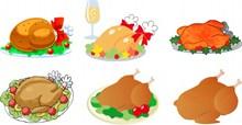 感恩节火鸡卡通素材图片素材