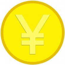 黄色人民币卡通图标图片大全