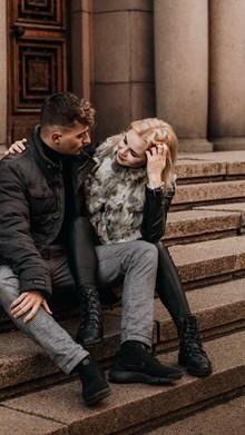 情侣户外写真精美图片