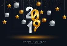 2019数字新年设计图片素材