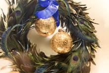 圣诞彩球花环高清图