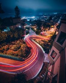 城市流线夜景唯美图片素材