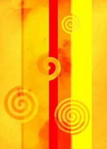 抽象螺旋黄色背景高清图片