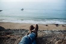 海边双足特写高清图片