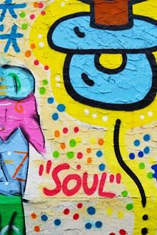 彩色墙壁涂鸦高清图