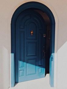 蓝颜色木门效果图精美图片