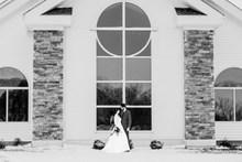 黑白婚纱照风格高清图片