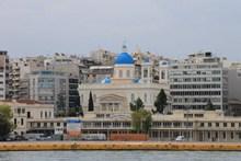 希腊城市教堂建筑图片素材