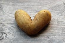 创意心形土豆图片