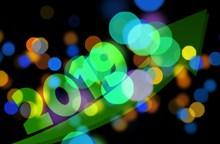 2019创意新年背景精美图片