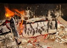 柴火燃烧火焰高清图片
