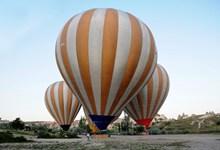 大型条纹热气球图片下载