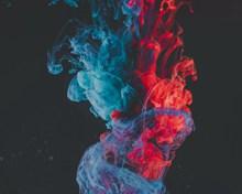 红蓝颜色溶解精美图片