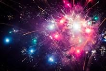 新年除夕夜灿烂烟火图片下载