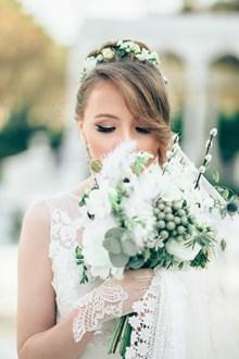 新娘个人婚纱写真图片素材