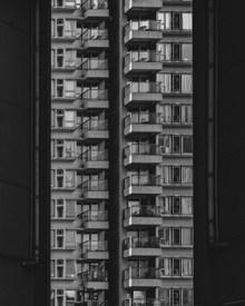 商品房建筑黑白高清图片