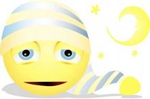 晚安黄色表情精美图片