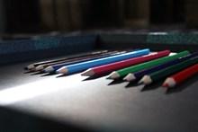 彩色学习画笔图片下载