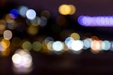 夜晚光斑背景图片素材