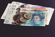 英镑纸币硬币图片素材