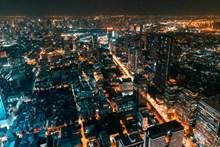 繁华都市夜景航拍图精美图片