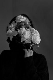 黑白创意人物头像图片