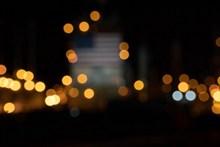 夜景光斑效果摄影图高清图片