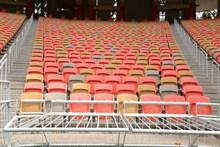 体育场多色椅子高清图
