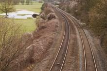 乡村列车轨道精美图片