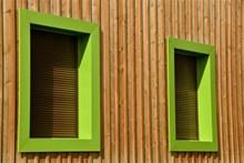 绿色木窗户图片下载