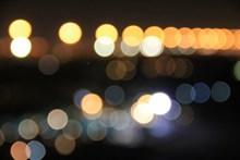 夜晚灯光散景背景精美图片